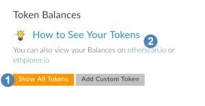 Ethereum wallet token balance invoegen