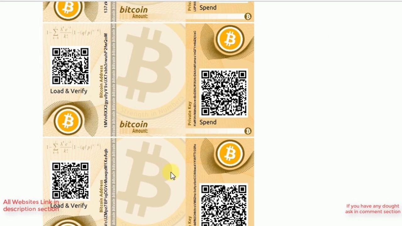 uitleg bitcoin paper wallet